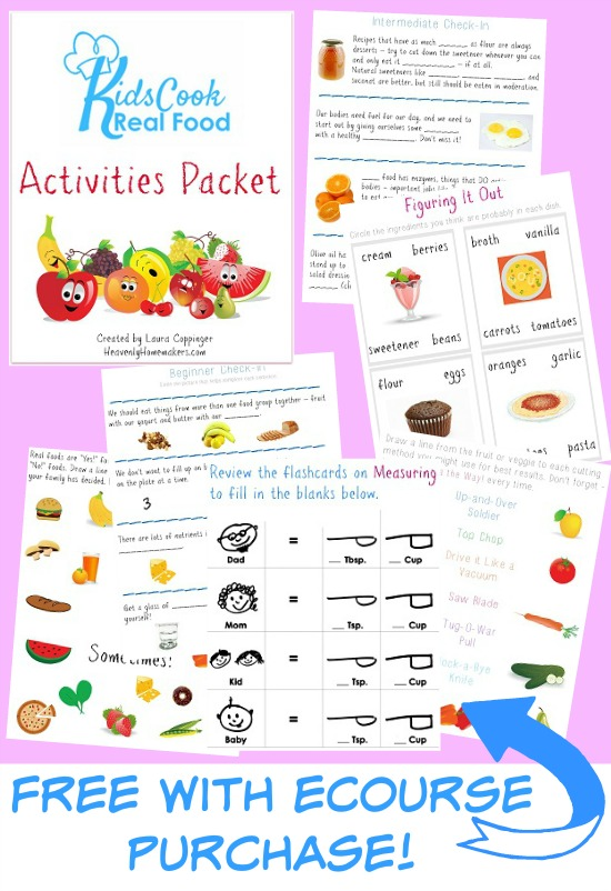 Kids Cook Real Food Activities Packet - Free with Purchase