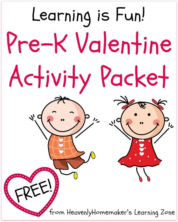 Pre-K Valentine Activity Packet - Free Download