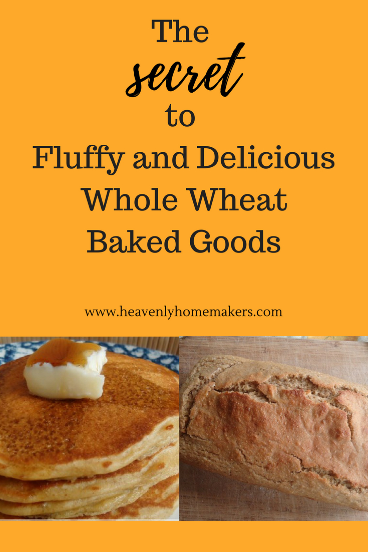 The SECRET to Fluffy and Delicious Whole Wheat Baked Goods! You have to read this! #bakedgoods #wholewheat
