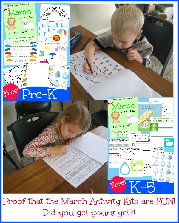 Fun Free March Activity Packets