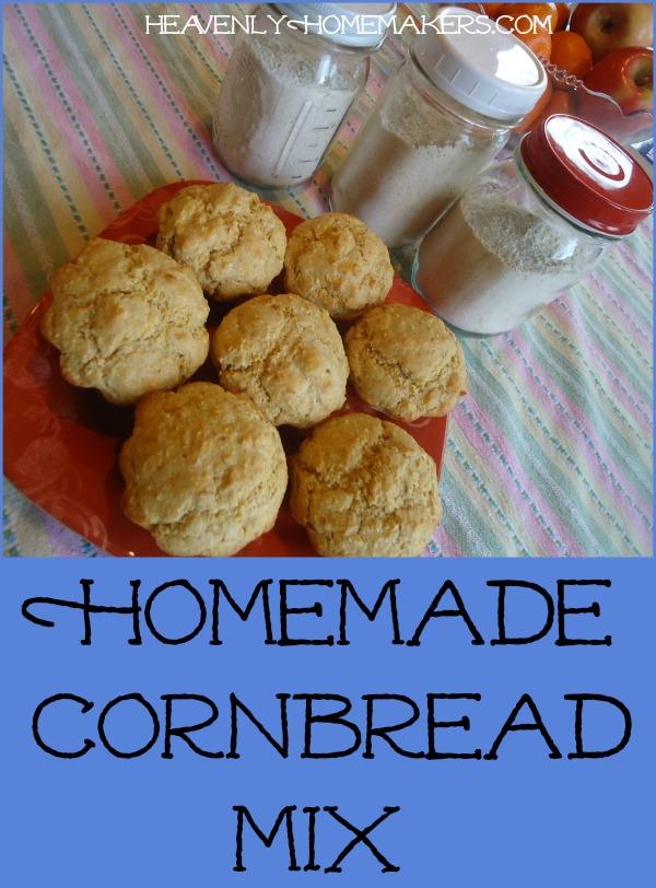 Homemade Cornbread Mix in Jars