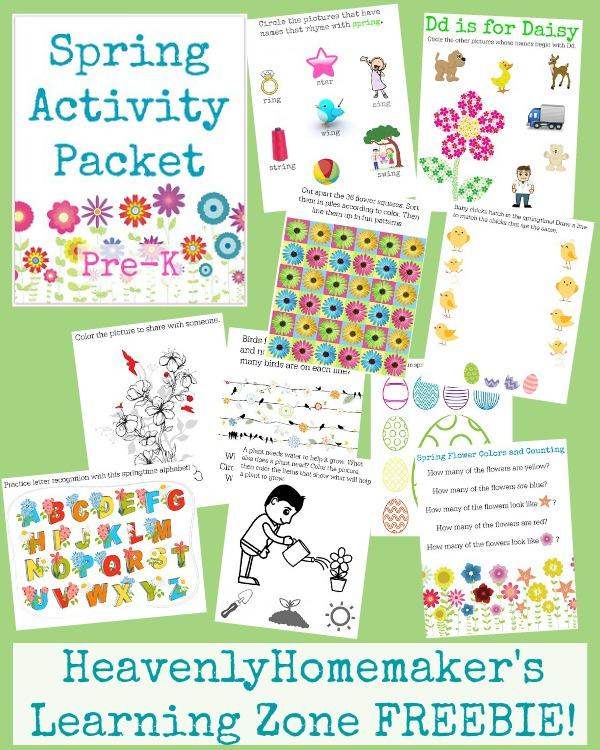 Spring Activity Packet Pre-K FREEBIE!
