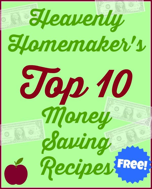 Top 10 Money Saving Recipes cover