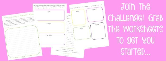 April Challenge Worksheet
