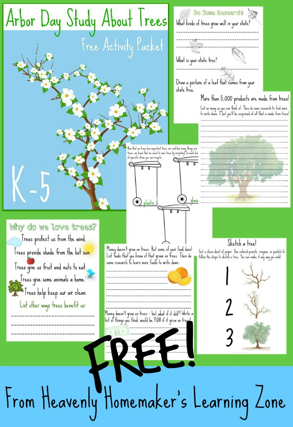 Arbor Day Study About Trees K-5 Free Activity Packet2