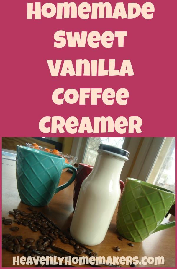 Homemade Sweet Vanilla Coffee Creamer Recipe