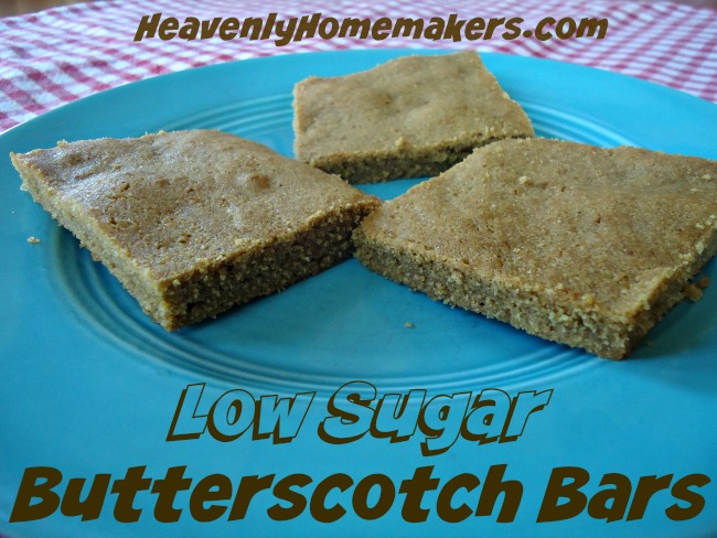 Low Sugar Butterscotch Bars