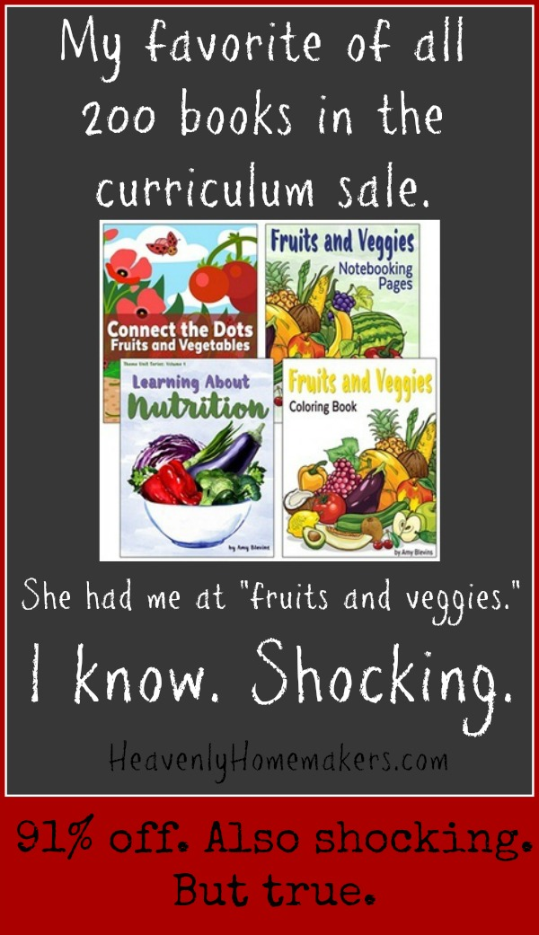 Fruits and Veggies Curriculum Sale