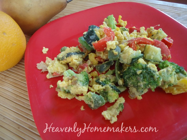 Veggie and Egg Scramble