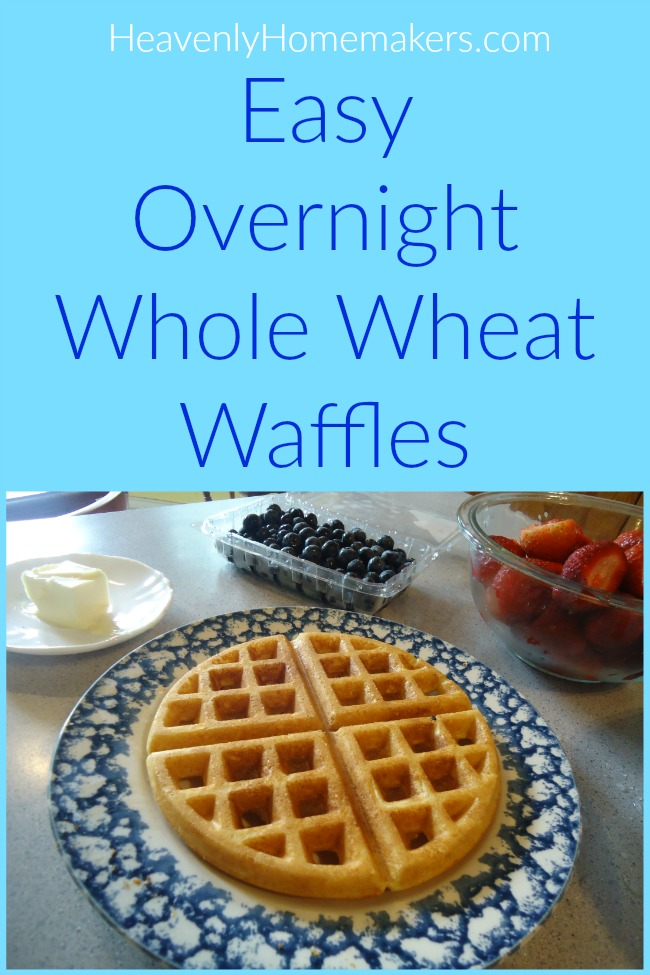 Easy Overnight Whole Wheat Waffles