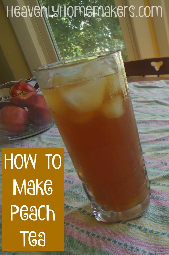 How to Make Peach Tea