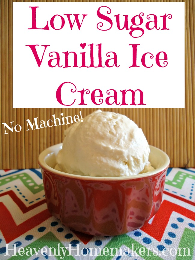 Low Sugar Vanilla Ice Cream