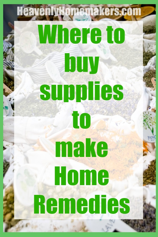 Where to buy supplies to make home remedies