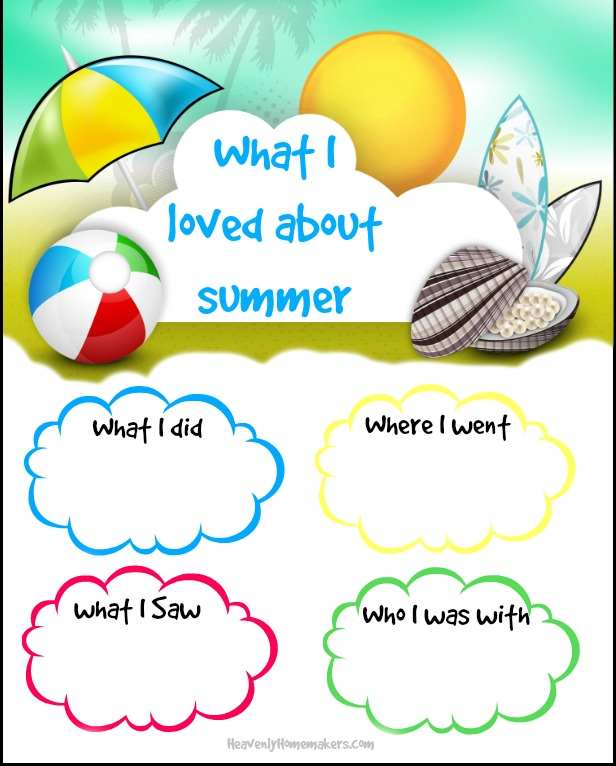 Free Printable Summer Writing Prompt