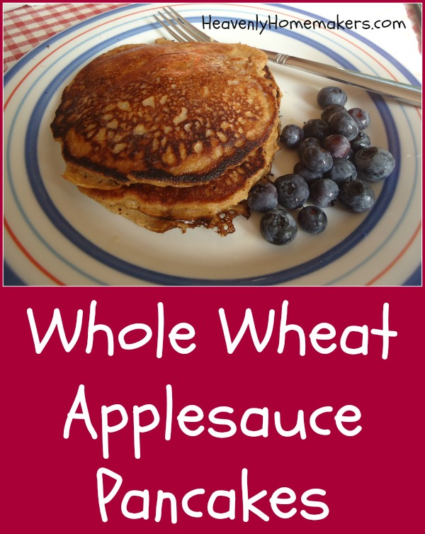 Whole Wheat Applesauce Pancakes