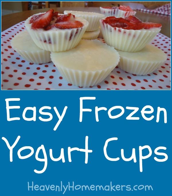 Easy Frozen Yogurt Cups