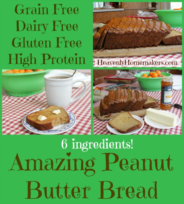 Grain Free, High Protein Peanut Butter Bread