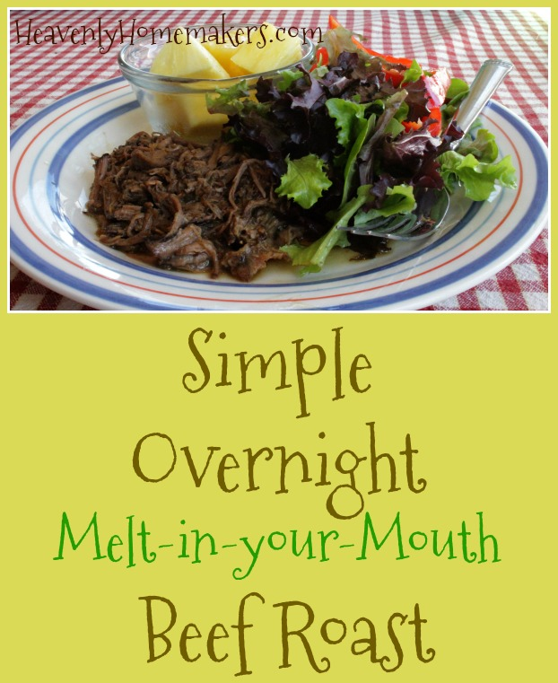 Simple Overnight Melt in your Mouth Beef Roast