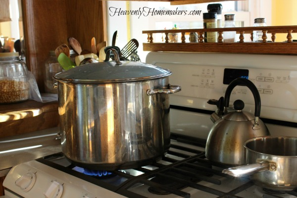 broth in stock pot