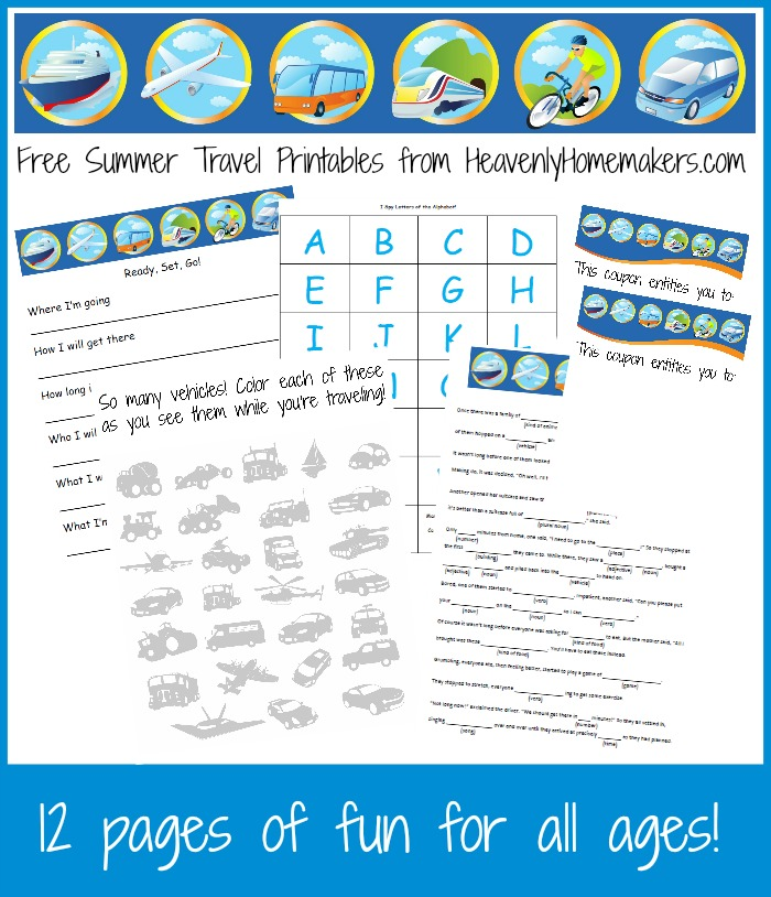 Free Summer Travel Printables