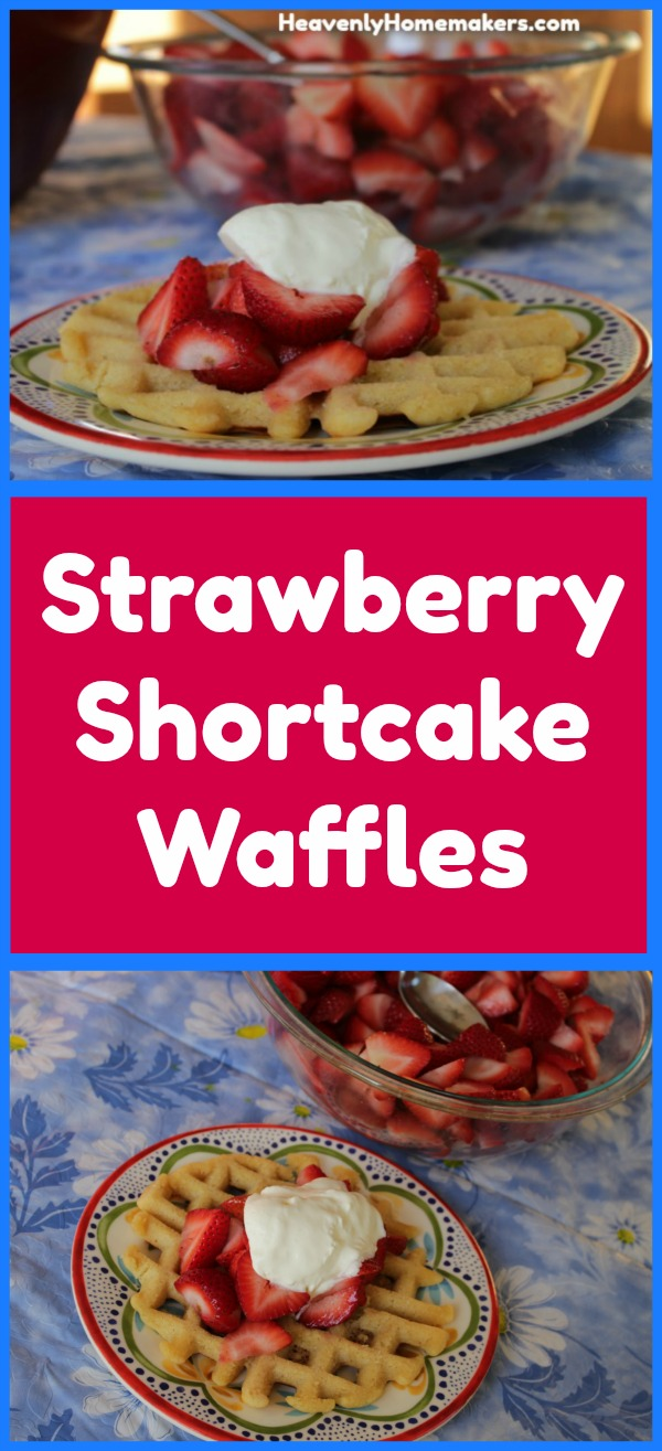 How to Make Strawberry Shortcake Waffles