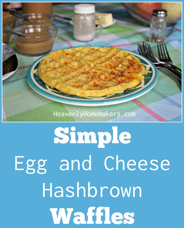 Simple Egg and Cheese Hashbrown Waffles