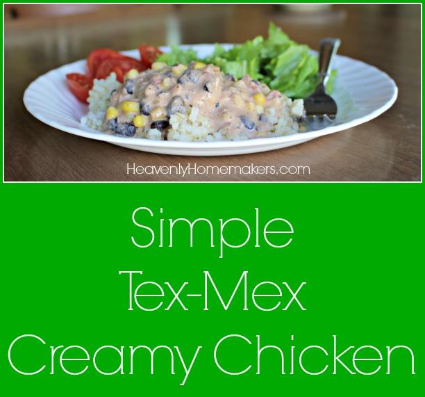 Simple Tex-Mex Creamy Chicken