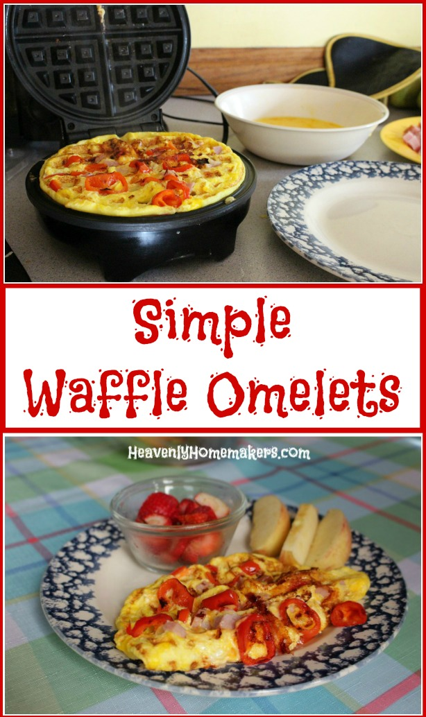 Simple Waffle Omelets