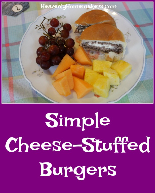 Simple Cheese Stuffed Burgers