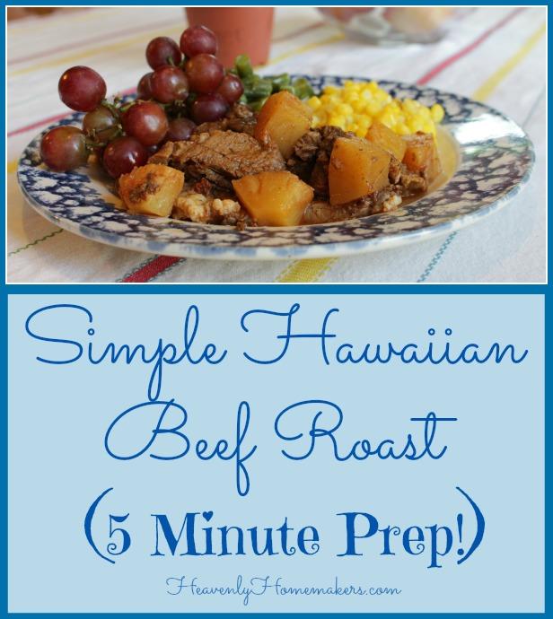 Simple Hawaiian Beef Roast