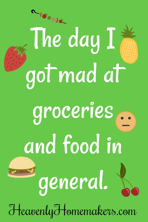 The Day I Got Mad at Groceries