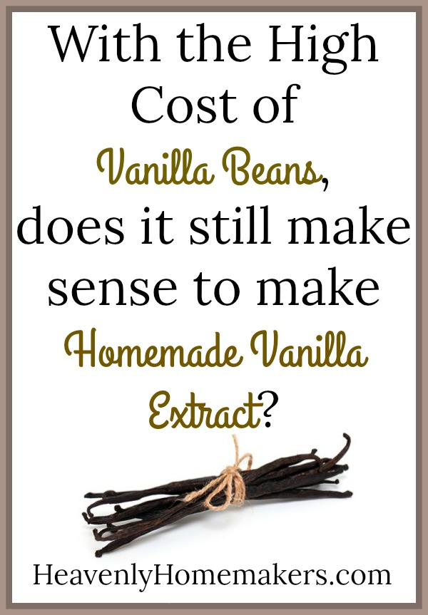 With the high cost of Vanilla Beans, does it still make sense to make Homemade Vanilla Extract