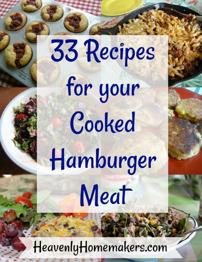 33 Recipes for your Cooked Hamburger Meat