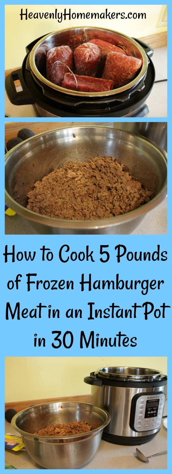 How to Cook 5 Pounds of Frozen Hamburger in an Instant Pot