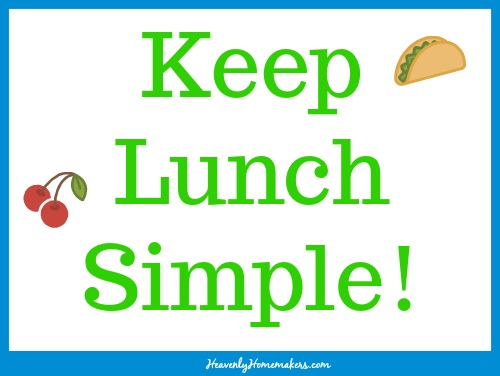 Keep Lunch Simple