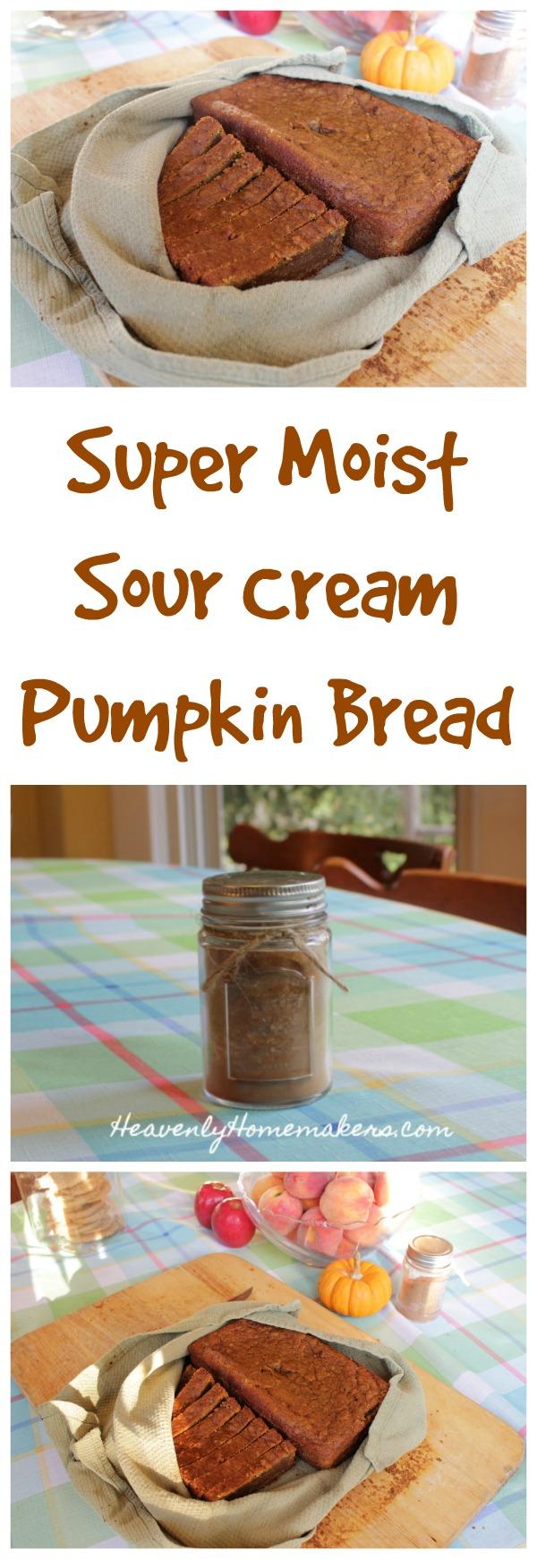 Super Moist Sour Cream Pumpkin Bread