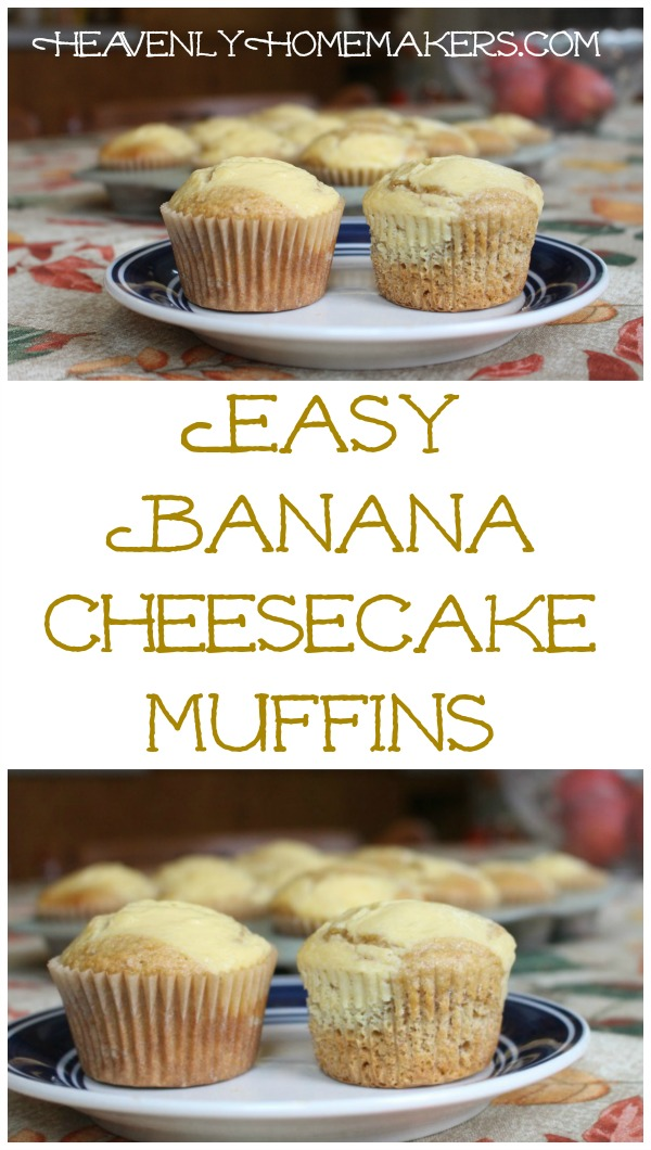 Easy Banana Cheesecake Muffins
