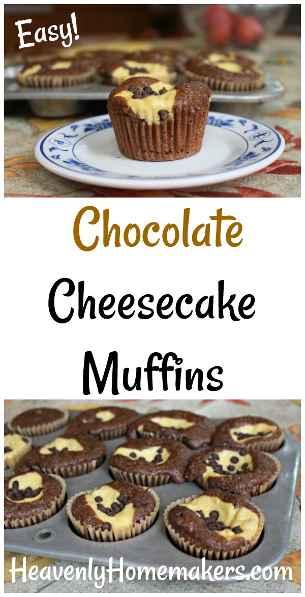 Easy Chocolate Cheesecake Muffins