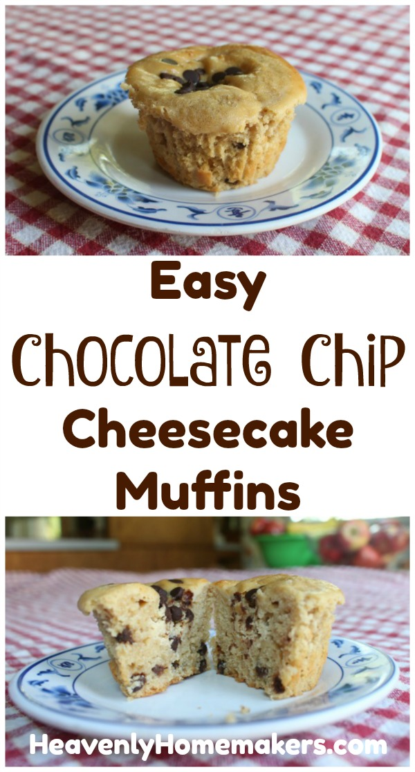 Easy Chocolate Chip Cheesecake Muffins