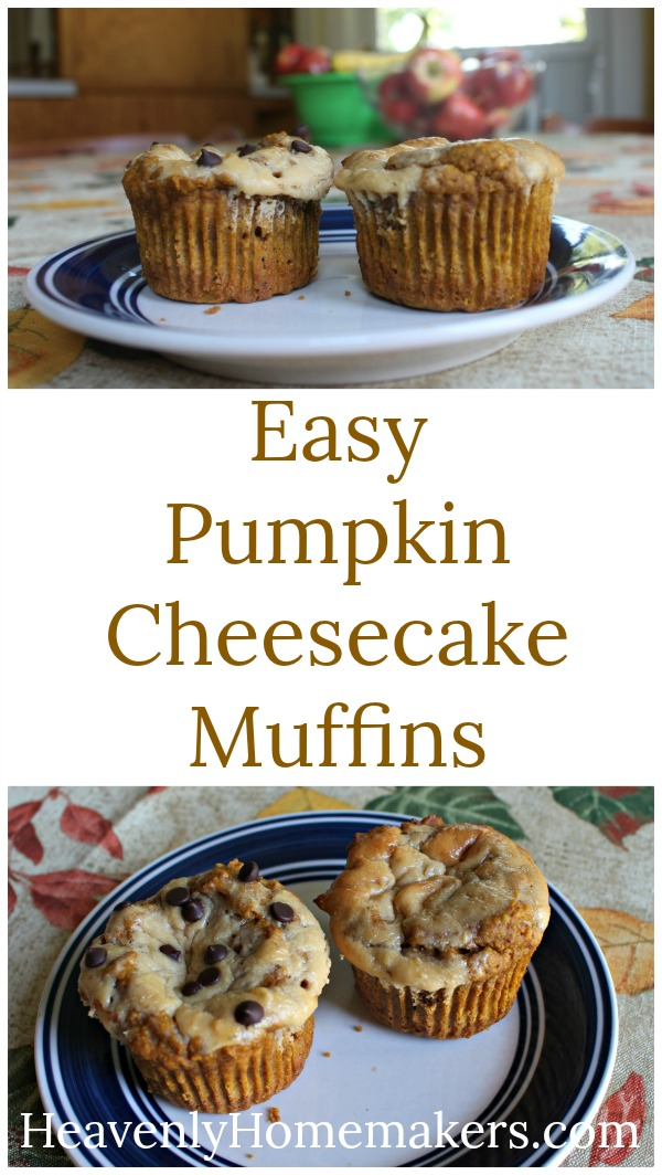 Easy Pumpkin Cheesecake Muffins