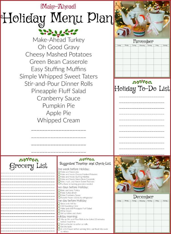 Make Ahead Holiday Sample