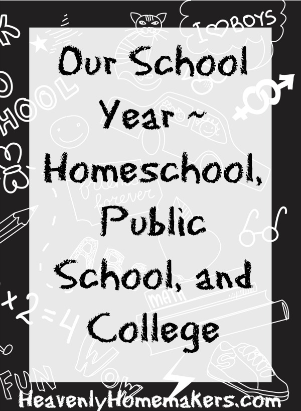 Our School Year - Homeschool, Public, and College