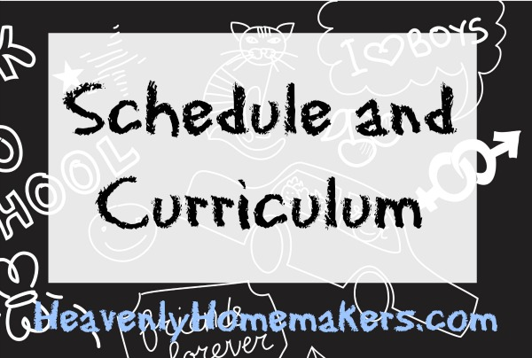 schedule and curriculum