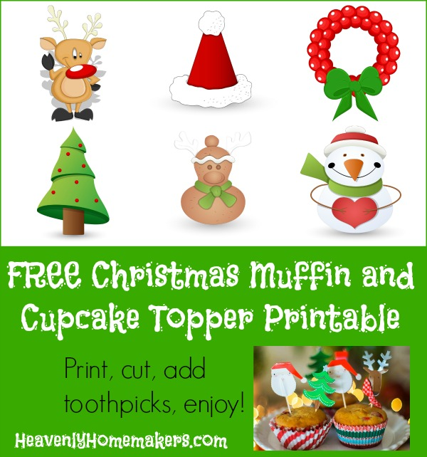 Christmas Muffin and Cupcake Topper Printable