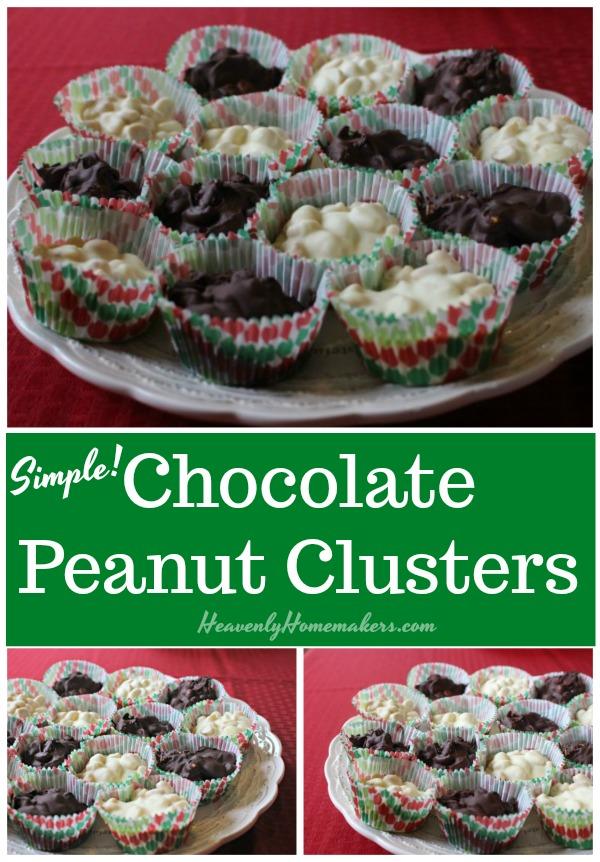 Simple Chocolate Peanut Clusters