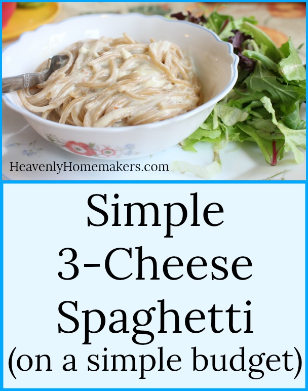 Simple 3-Cheese Spaghetti on a simple budget