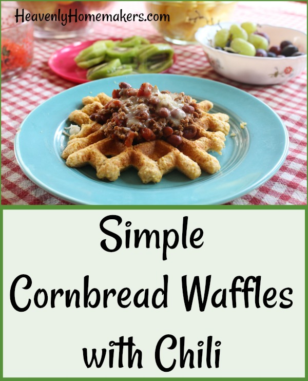 Simple Cornbread Waffles with Chili