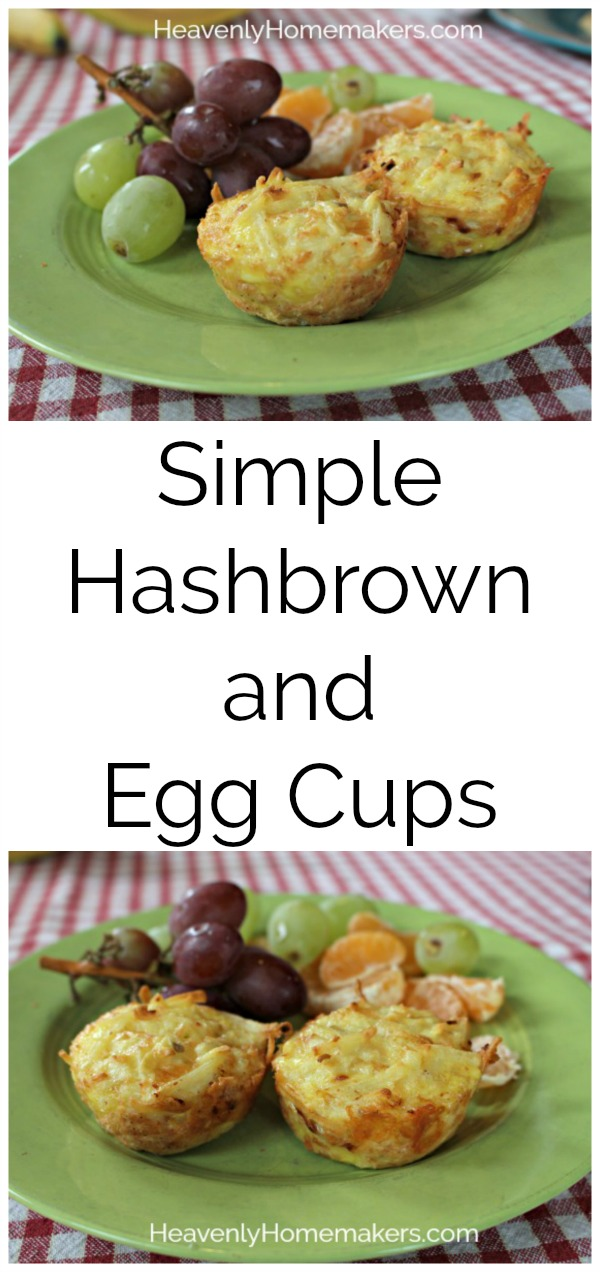 Simple Hashbrown and Egg Cups