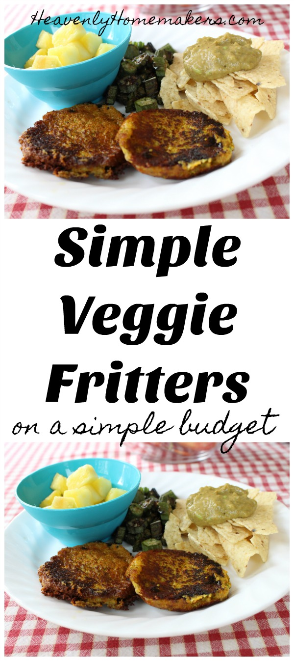 Simple Veggie Fritters on a Simple Budget