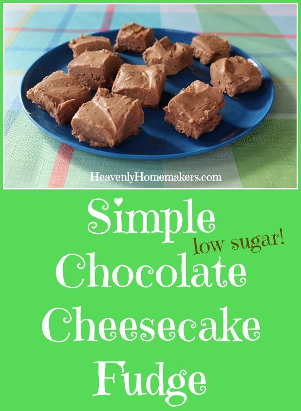 Simple Low Sugar Chocolate Cheesecake Fudge